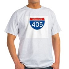 Interstate 405 - CA Ash Grey T-Shirt