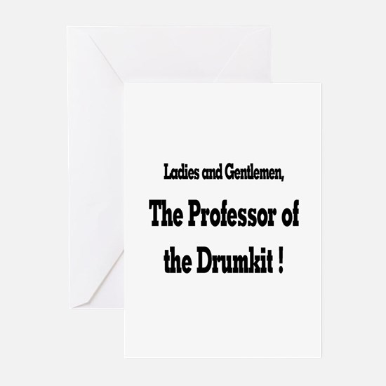 Professor of the Drumkit Greeting Cards (Package o