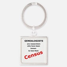 Red Losing Census Square Keychain