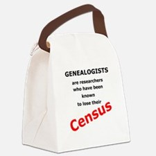 Red Losing Census Canvas Lunch Bag