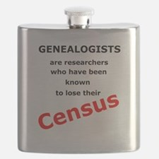 Red Losing Census Flask