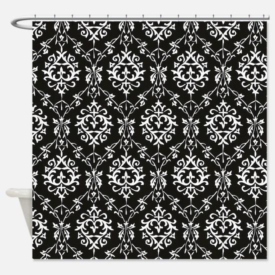 black and cream shower curtain. Black  Cream Damask Shower Curtain Bridal Curtains CafePress
