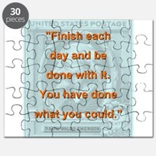 Finish Each Day - RW Emerson Puzzle