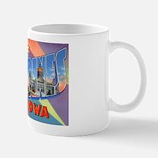 Des Moines Iowa Greetings Mug