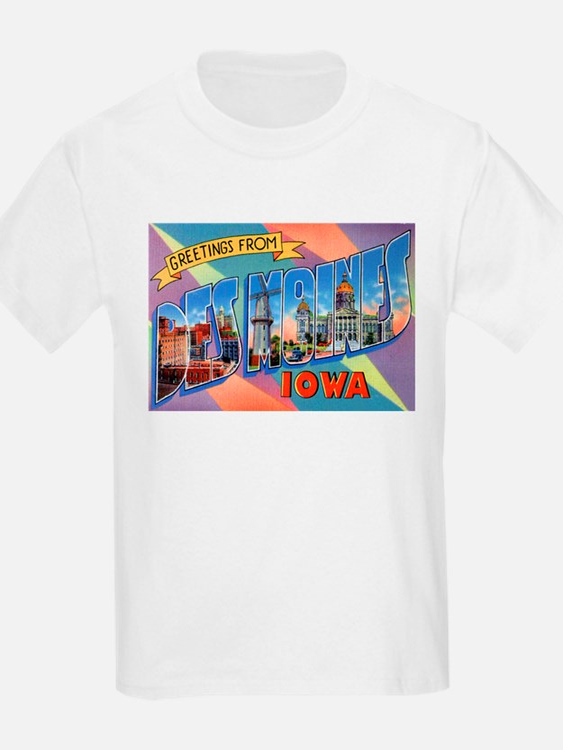 Des Moines Iowa Greetings (Front) Kids T-Shirt