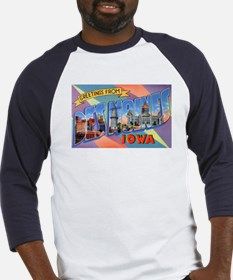 Des Moines Iowa Greetings (Front) Baseball Jersey