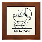 B is for Baby Framed Tile