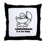 B is for Baby Throw Pillow