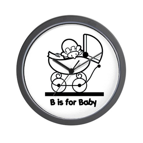 B is for Baby Wall Clock
