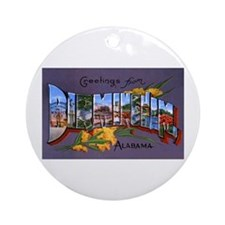 Birmingham Alabama Greetings Ornament (Round)