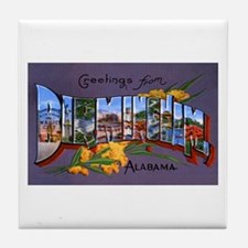 Birmingham Alabama Greetings Tile Coaster