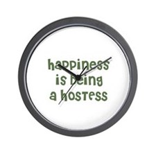 Happiness is being a HOSTESS Wall Clock