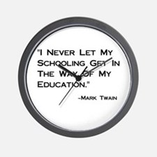 Schooling Get in Way of Education Wall Clock