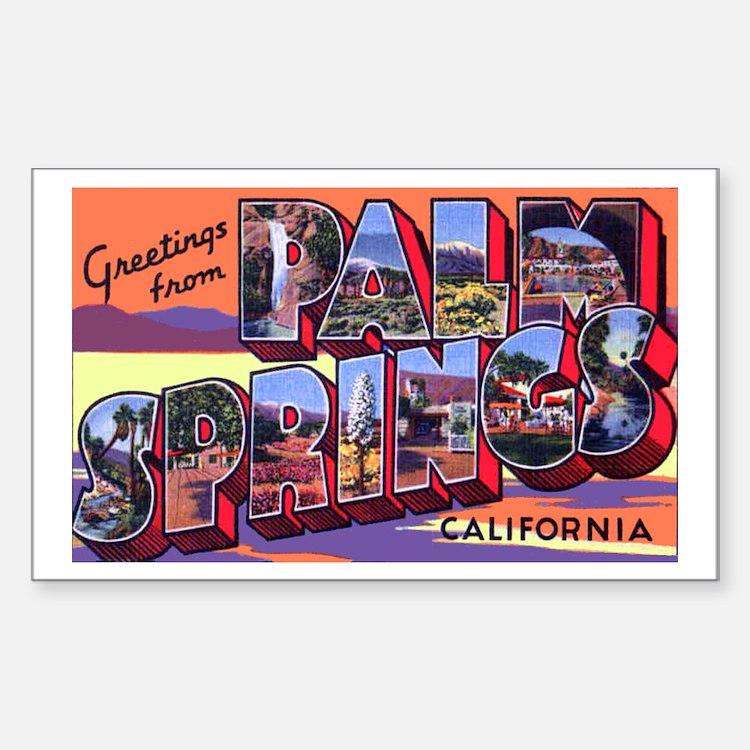 Palm Springs California Greetings Decal