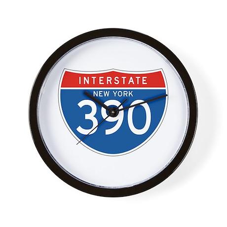 Interstate 390 - NY Wall Clock