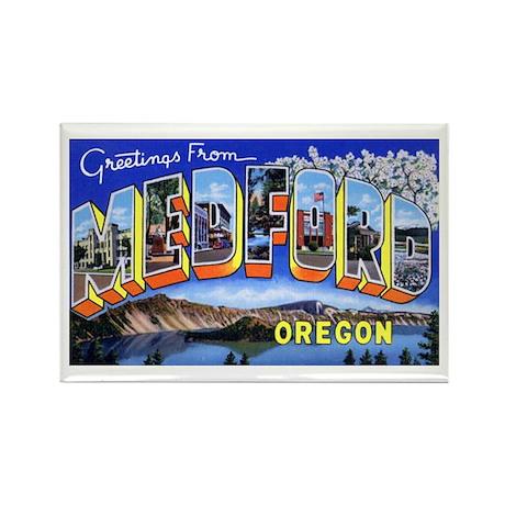 Medford Oregon Greetings Rectangle Magnet (10 pack