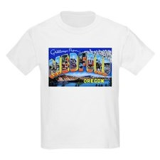 Medford Oregon Greetings (Front) Kids T-Shirt