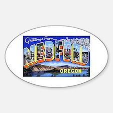 Medford Oregon Greetings Oval Decal