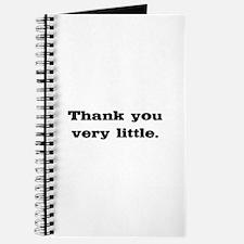 Thank you very little Journal