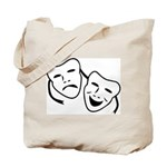 Comedy & Tragedy Mask Tote Bag