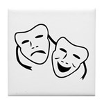 Comedy & Tragedy Mask Tile Coaster
