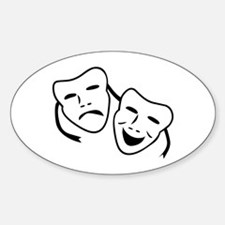 Comedy & Tragedy Mask Oval Decal
