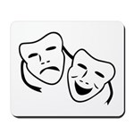 Comedy & Tragedy Mask Mousepad