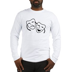 Comedy & Tragedy Mask Long Sleeve T-Shirt