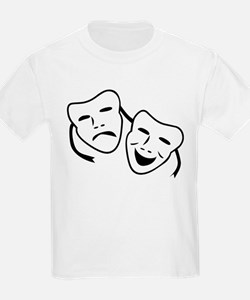 Comedy & Tragedy Mask Kids T-Shirt