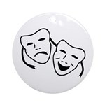 Comedy & Tragedy Mask Ornament (Round)