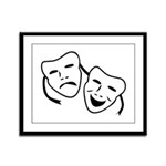 Comedy & Tragedy Mask Framed Panel Print