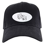 Comedy & Tragedy Mask Black Cap