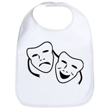 Comedy & Tragedy Mask Bib