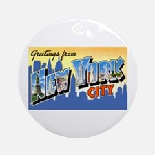 New York City Greetings Ornament (Round)