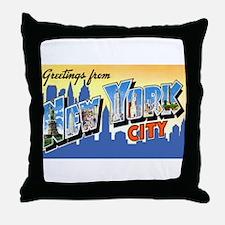 New York City Greetings Throw Pillow
