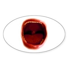 The RED Scream Oval Decal