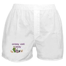 Crazy Old Cat Lady Boxer Shorts