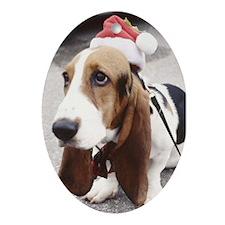 Christmas Dog Oval Ornament