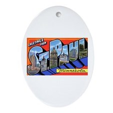 St Paul Minnesota Greetings Oval Ornament