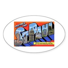 St Paul Minnesota Greetings Oval Decal