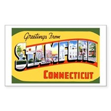 Stamford Connecticut Greetings Sticker (Rectangula