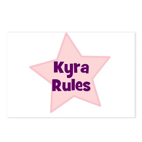 Kyra Rules Postcards (Package of 8)