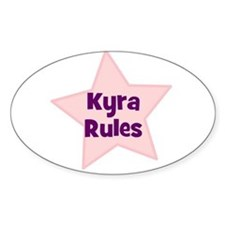 Kyra Rules Oval Decal