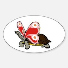 Terrapinfly ( winged turtle ) Oval Decal