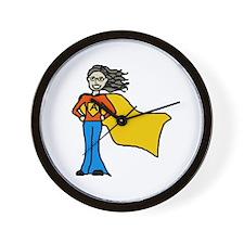 Cute Supergirl Wall Clock