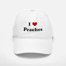 I Love Peaches Baseball Baseball Cap