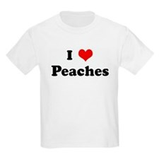 I Love Peaches Kids T-Shirt