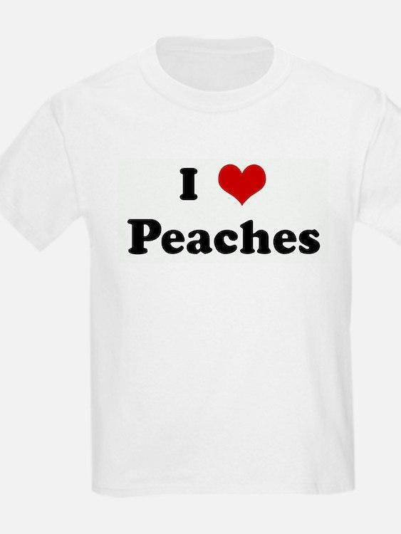 I Love Peaches Kids T-Shirt