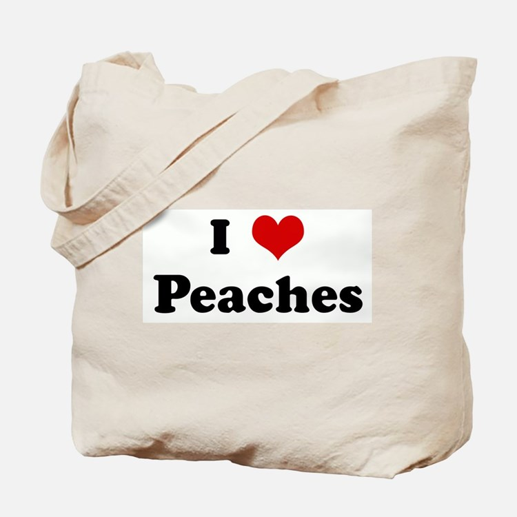 I Love Peaches Tote Bag