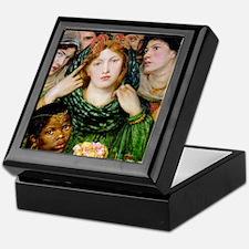 Rossetti painting Beloved goddess art Keepsake Box